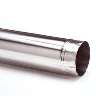 Aluminium rookgasafvoer pijp dun en dikwandig