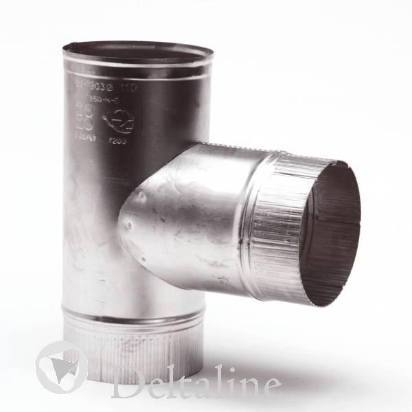 Aluminium rookgasafvoer T Stuk dun en dikwandig