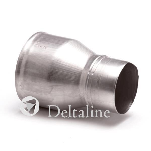 Aluminium rookgasafvoer verloopstuk dun en dikwandig