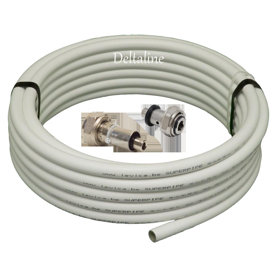 Superpipe meerlagenbuis Alu-PE-X ook voor  Multifit koppelingen