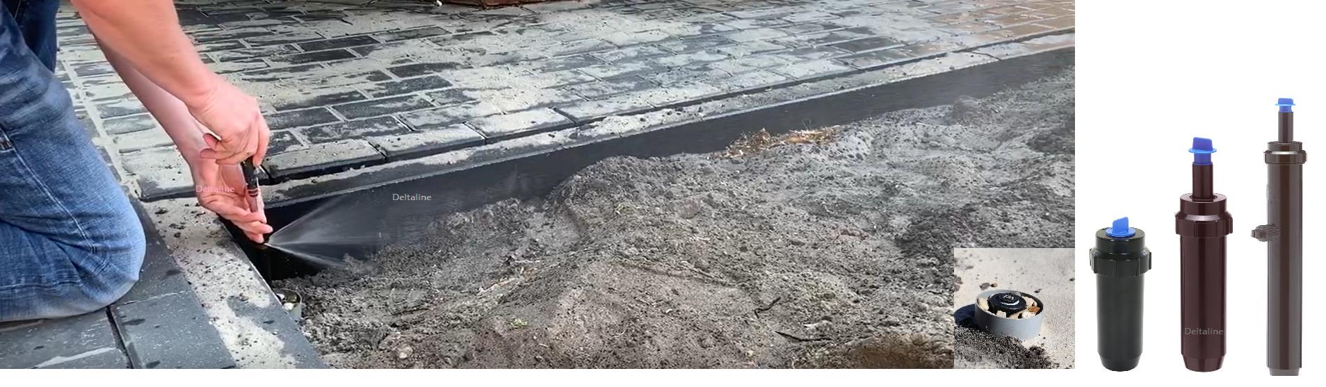 K-Rain pop-up nevelsproeier onder constructie