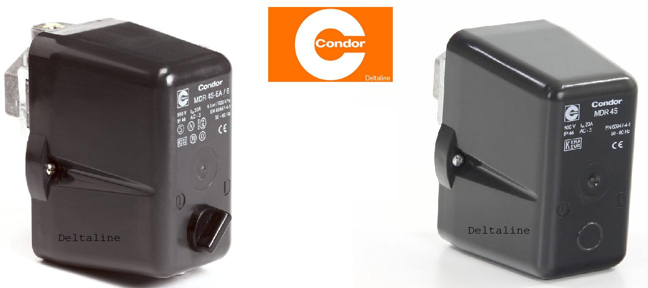 Condor drukschakelaar, type MDR 1 en 4 voor 220 volt en 380 volt
