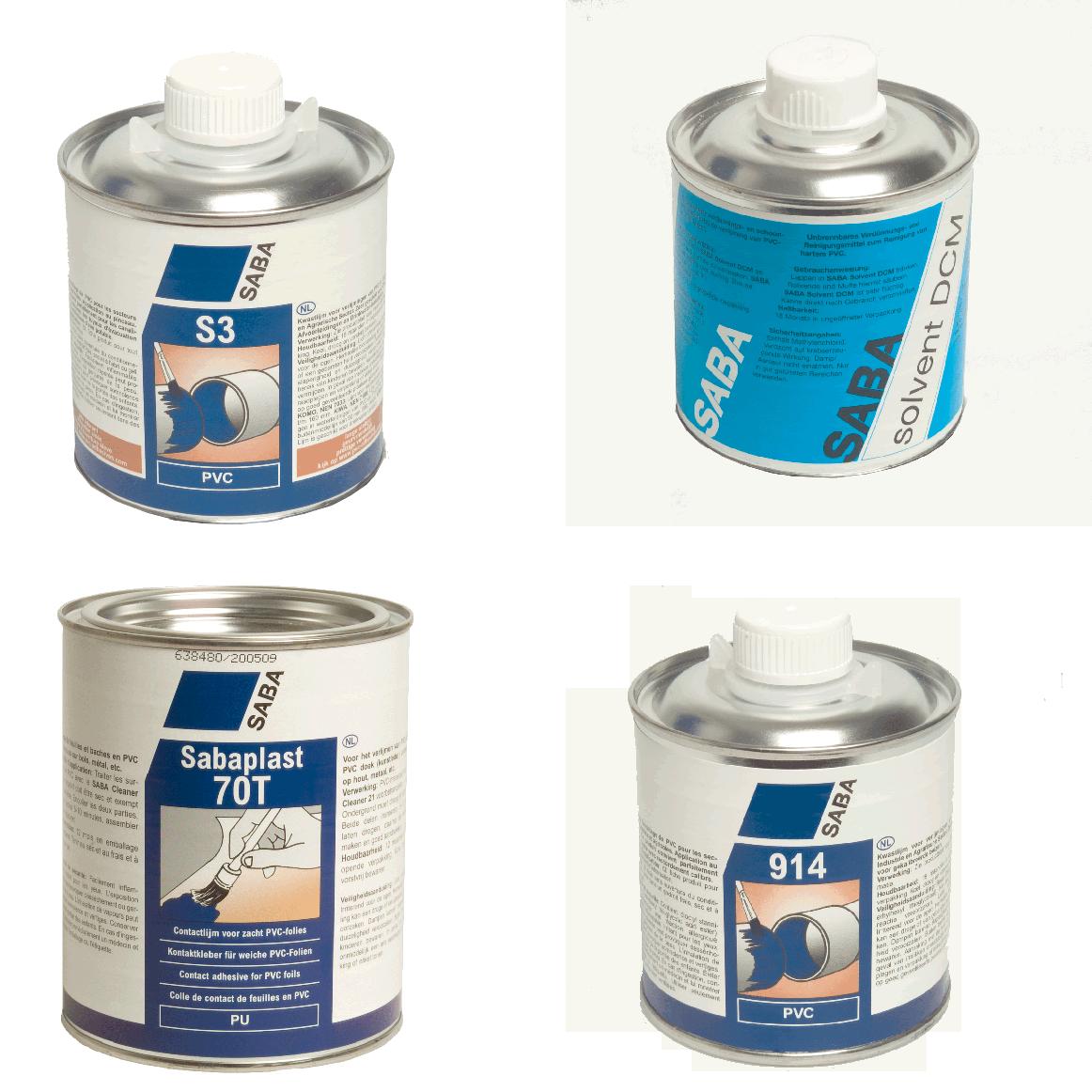 SABA PVC lijmen en reinigers
