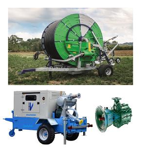 Pomp systemen voor Slanghaspel beregening met  PTN Dieselset