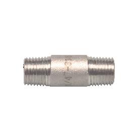 Nr 23 - Pijpnippel (316) Met BSP draad volgens DIN 2999 2 x buitendraad