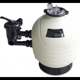 Mega+ MFS side mount zandfilter 37.5 m³ 50 °C, HDPE, 2,5 bar