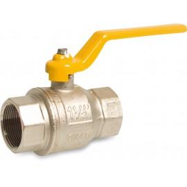 Messing gaskogelkraan DVGW gekeurd type 070