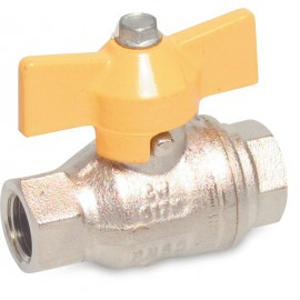 Messing gas-kogelkraan DVGW gekeurd type 072