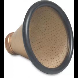 "Broeskop met rubber stootrand 2580 l/u 100 mm messing, Type 1800 , 1"" binnendraad"