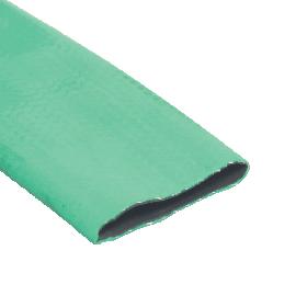 Goedkope Plat oprolbare PVC slang gewapend type GREENFLAT tot 4 bar / prijs is per meter en alleen per volle rol