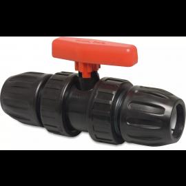 PP kogelkraan met klemverbinding type Mega Safe 500