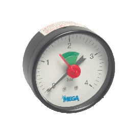 Mega manometer 63 mm voor verwarming installaties