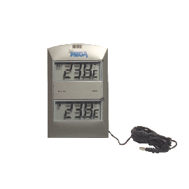 Elektronische binnenbuiten minmax thermometer