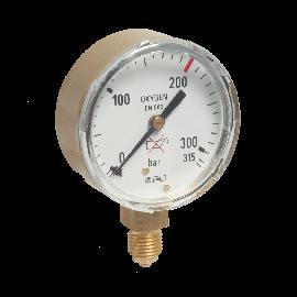 Manometer voor zuurstof 63 mm