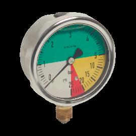 Veldspuit manometer 63 mm glycerine gevuld