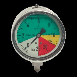 Veldspuit manometer 100 mm glycerine gevuld