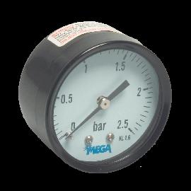 "Manometer 40 mm,  droog achteraansluiting, 1/8"""