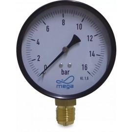 Manometer 100 mm droog onderaansluiting