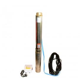 """LEO bronpomp 4"""", rvs, type 4.XRiM 4/14, 1,10 kW, 230 V, incl. schakelkast"""