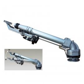 Sime rond- / sectorsproeier, type Master 85, hoek instelbaar van 15°-35°, flens aansluiting toepassing  beregeningshaspels   Capaciteit  67,6 - 306 m³/uur