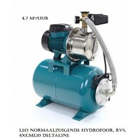 LEO zelfaanzuigende hydrofoors met RVS Pomphuis