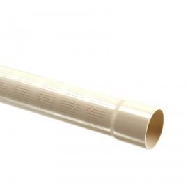 Bronfilter 63 mm  x 3,0 mm, snede 0,3 mm, perforatie 2,5 m, maximaal 10 mtr, afhanhelijk van grondlagen