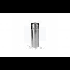 Aluminiumpijp dikwandig 250 mm lang