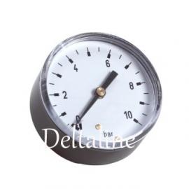 Buisveermanometer 1/4 bu.dr.met achteraansluiting standaard, droog
