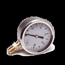 Buisveermanometer met onderaansluiting (glycerinevulling)