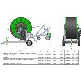 Onderdelen & opties voor de  Irrimec ST15 haspel 100TG400