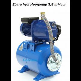 Ebara zelfaanzuigende hydrofoor Pomp 3,8 m³/uur met een drukvat van 22 liter.