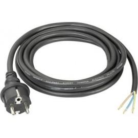 Aansluitkabel Stroom 230 volt  Zwart 2 meter lang