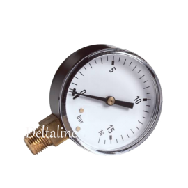 Buisveermanometer met onderaansluiting (droge uitvoering)