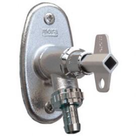 Mora vorstvrije rvs gevelkraan met kunststof knop en sleutel