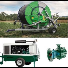 PTN Dieselset voor beregening,  centrifugaalpomp  Capaciteit: 60-80 m3/h  toepasbaar voor   Haspel beregening Ø110mm, lengte 400 meter  met een   Nozzle Ø 24mm tot Ø 28mm