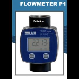 Inline turbine flowmeter adblue Polyamide behuizing, PP rader, viton afdichtingen en RVS aansluiting.