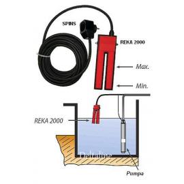 Niveauschakelaar REKA 2000, Schakelt pompen tot max vermogen van 2PK voor leeg en volpompen