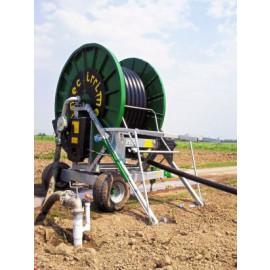 Irrimec ST15 haspel 100TG400 slangmaat Ø 100 mm lengte rol : 400 m   met bronpomp samen gebouwd op uw locatie